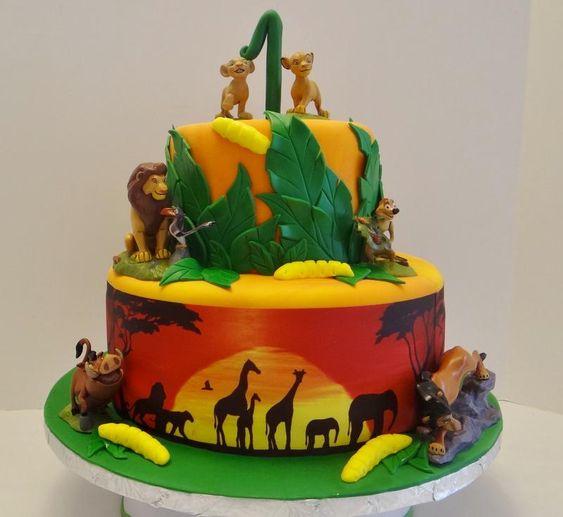 Lion King cakes / Tarta del Rey León