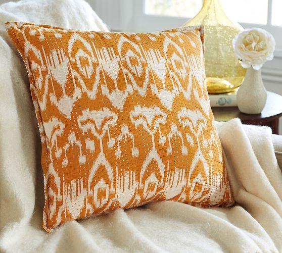 Kantha Embroidered Pillow Cover Pottery Barn Julia Ko