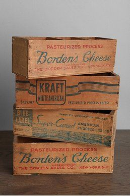 One-Of-A-Kind Vintage Wooden Cheese Box