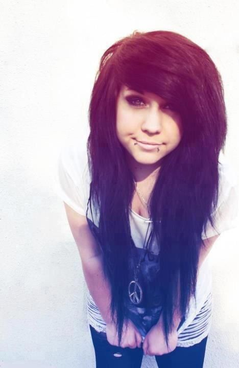 cute emo hair that I would love to have.