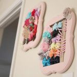 Pink Hair Bow Holder Frame