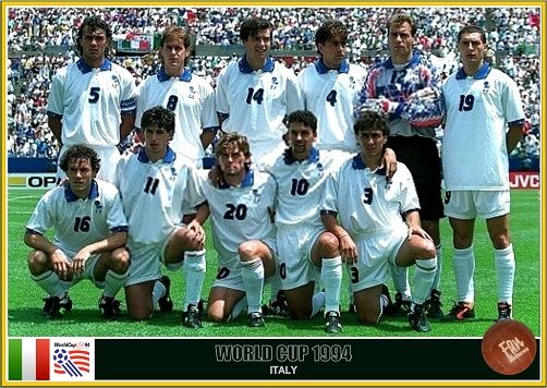 Fan Pictures 1994 Fifa World Cup United States Italy Team Italy Team World Cup Italy