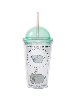 Pusheen Elephant Dome Lid Travel Cup,