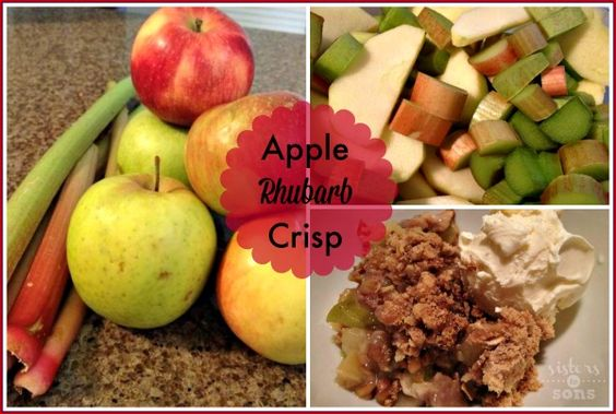 Apple Rhubarb Crisp {Summer Foodie Series} - Sisters to Sons... This is the perfect dessert for 4th of July!