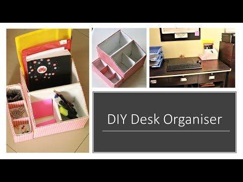 Diy Multipurpose Desk Organizer From Shoe Box Diy Desiree