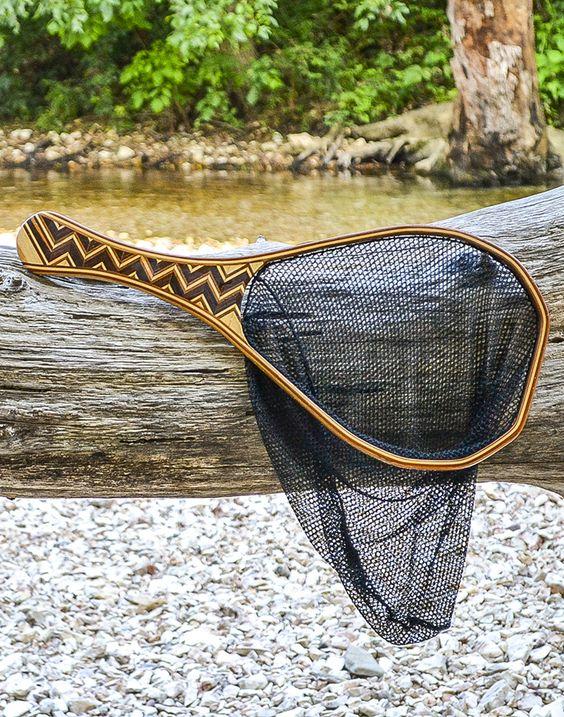zig zag pattern fly fishing net | our custom woodworking, Fishing Reels