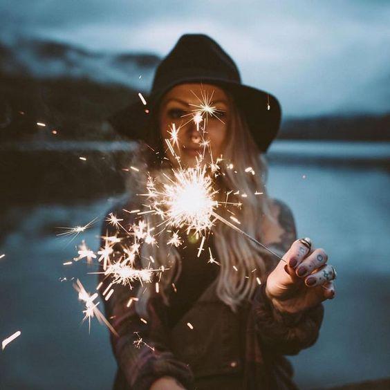 Sparkler portrait photography