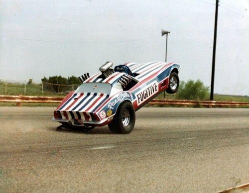 Fugitive Corvette wheelstander