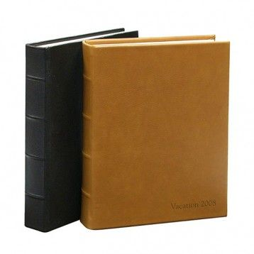 Leather library bound photo album, like the British tan