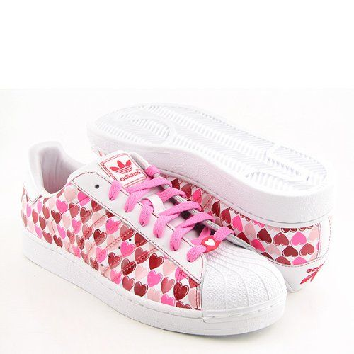 Amazon.com: Adidas Women\u0027s Superstar 2 Hearts Casual Shoe Pink, Red, White  (8): Shoes | Other Things I Like | Pinterest | Casual shoes, Adidas and  Adidas ...