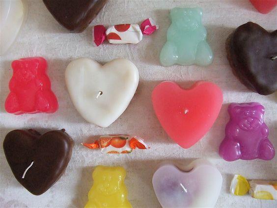 hearts and bears.