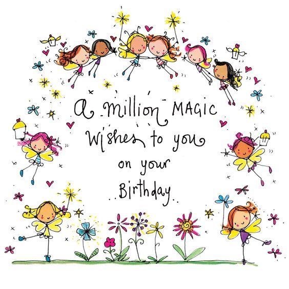 ┌iiiii┐ A million magic wishes to you on your Birthday!:
