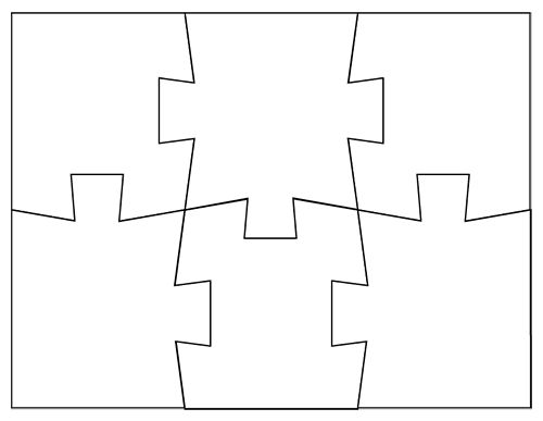 Medium Blank Printable Puzzle Pieces  Kg    Printable