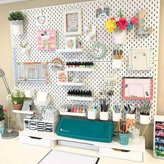 15++ Craft room pegboard diy ideas