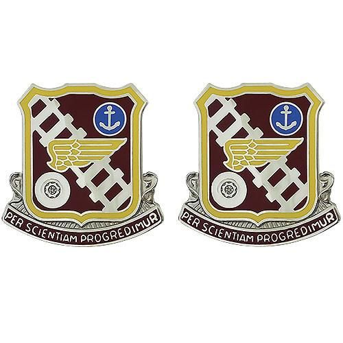 Transportation Center And School Unit Crest Per Scientiam Progredimur Army Service Uniform The Unit Military Insignia