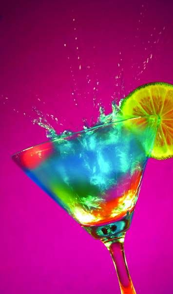 ♥ ~ COLORS Of The RAINBOW ~ ♥  Ding-a-ling martini