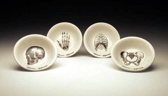 Zombie and Skeleton Dinnerware