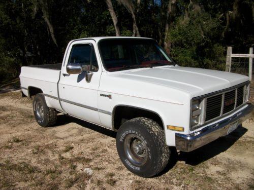 1987 Gmc Sierra 1500 Pickup Truck Old 1980 S Trucks For Sale