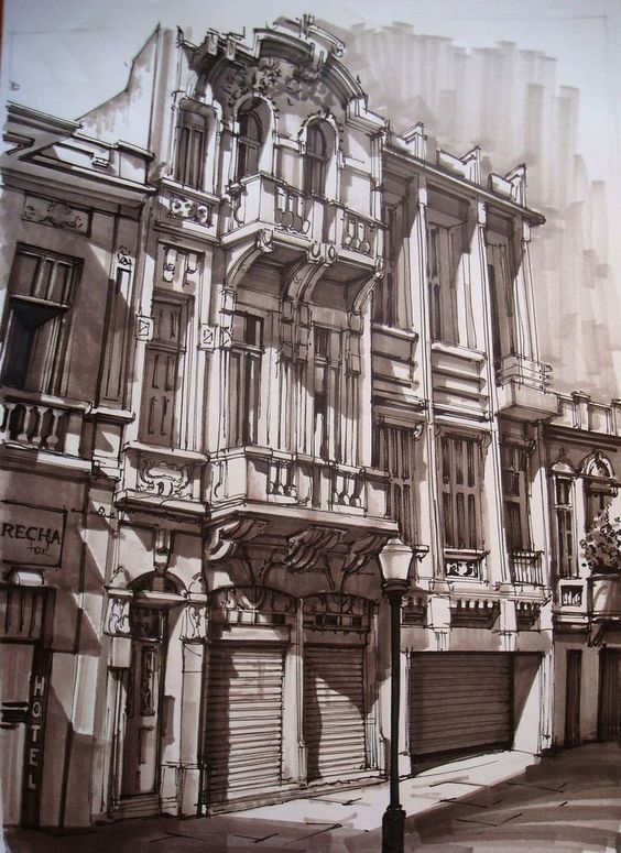 Sketches we like / marker Sketch / Urban Live / House / outside / at leManoosh : Photo