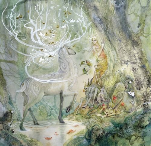 celtic-forest-faerie:  {Stag Sonata Cycle} by {Stephanie Pui-Mun Law}