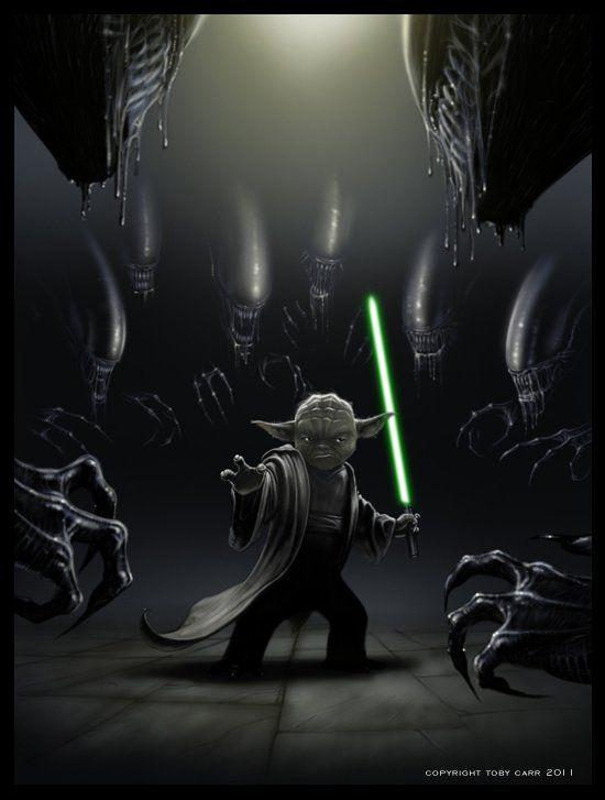 Yoda Vs. Aliens: