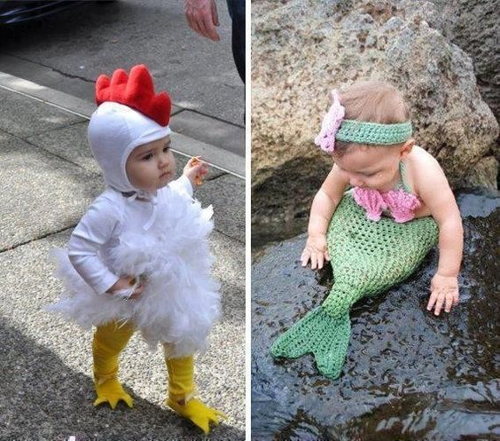 pinterest knitted baby mermaid outfits | costume knitting!