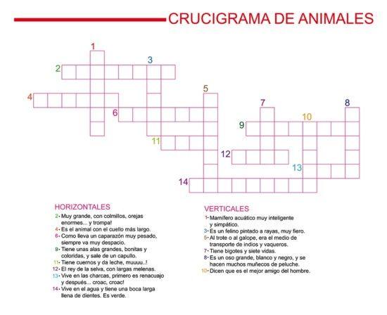 Crucigramas Para Ninos Para Imprimir 06 Crossword Puzzle Education My Room