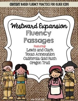 westward expansion fluency practice for older kids content based reading with 10 review. Black Bedroom Furniture Sets. Home Design Ideas