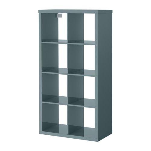 KALLAX Shelf unit - high gloss gray-turquoise - IKEA