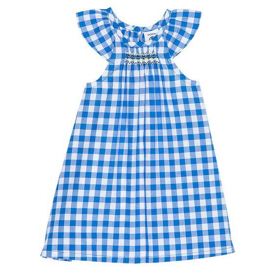 BABY GIRL CHECKED POPLIN DRESS