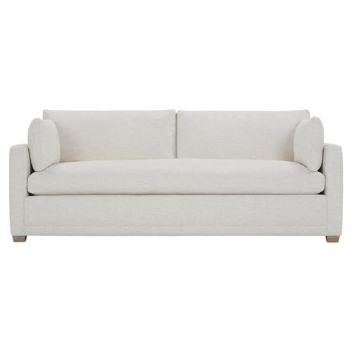 Cassius Modern Classic White Upholstered Loose Back Bench Seat