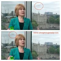 UFO Shows Up On Russia Today News In London, England, June 13, 2013 [video]