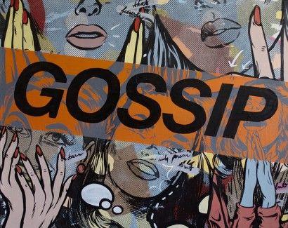 Pop Art Gossiping - Dan Monteavaro | Crie seu quadro com essa imagem https://www.onthewall.com.br/ilustracao/pop-art-gossiping #quadro #canvas #moldura #popart #decor
