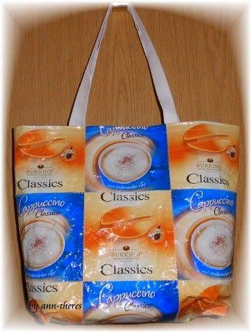 kreatives Versuchslabor: Shopper aus Kaffeeverpackungen