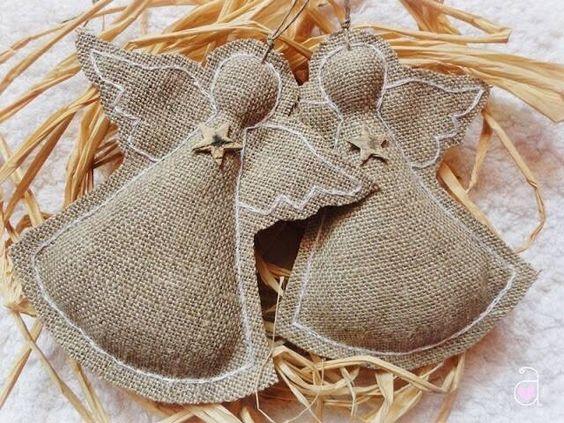 Angelitos tela de saco tela sac pinterest bolsos - Tela de saco ...