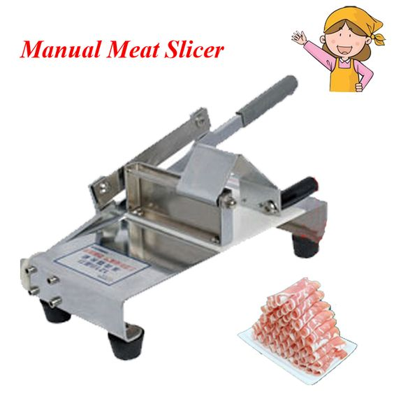 $157.00 (Buy here: http://appdeal.ru/dx0v ) 1pc Manual Meat Cutting Machine Household Mutton Roll Slicer Food Processor Stall-fed Meat Slicer for just $157.00