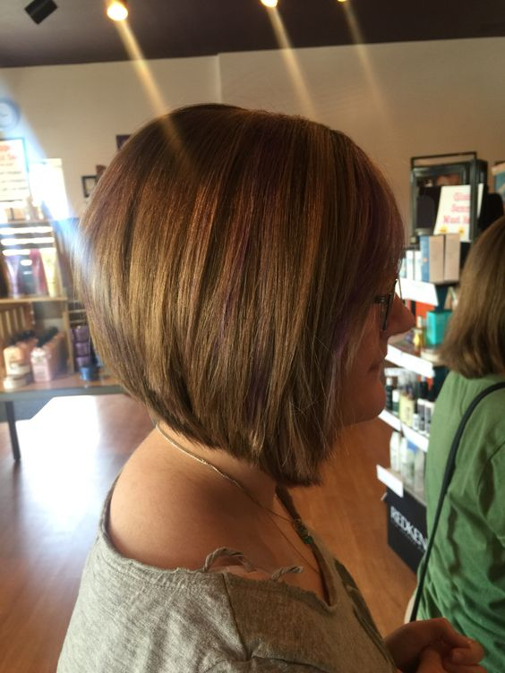 A fun angled bob cut I did