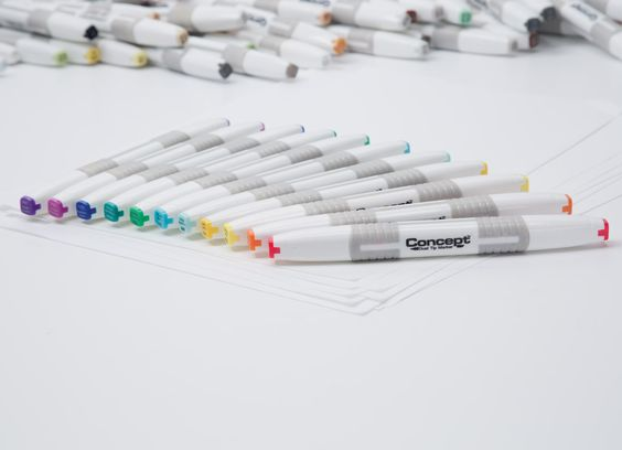 Dual Tip Art Markers Concept Professional Art Markers