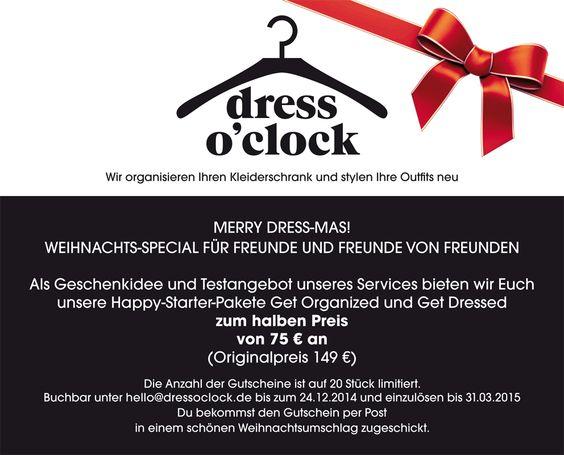 Unser Weihnachts-Special. Geschenk-Gutschein-Aktion! Merry Dress -Mas