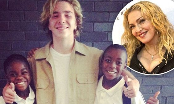 Madonna shares cute snap of son Rocco taking his siblings to school