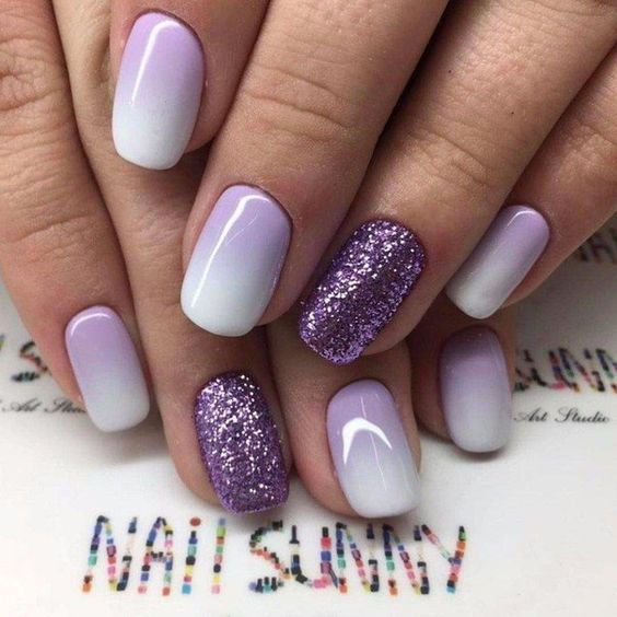 Brown And Pink Ombre Nails - Nail and Manicure Trends