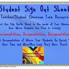 Use this quick and easy printable to attach to the inside of your classroom door for students to sign out and in when going to different placed dur...