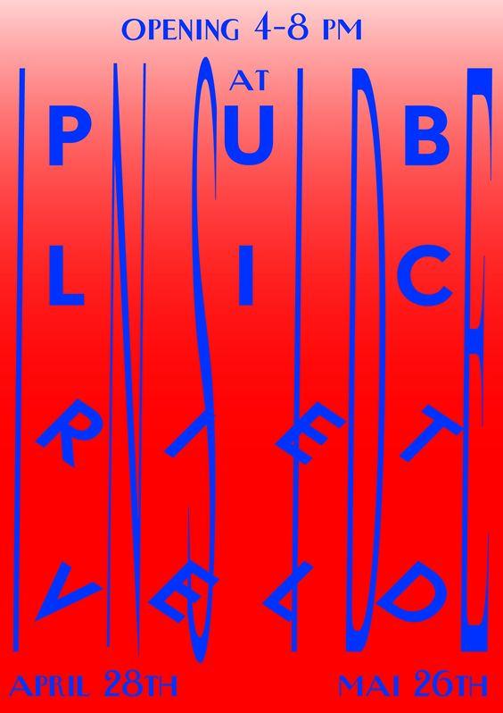 Public Rietveld, poster by Killian Loddo (2011) –Type OnlyUnit Editions