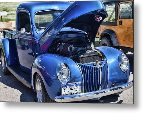 1940 Blue Ford Metal Print By Alana Thrower In 2020 Pickup Trucks Ford Trucks Old Pickup Trucks