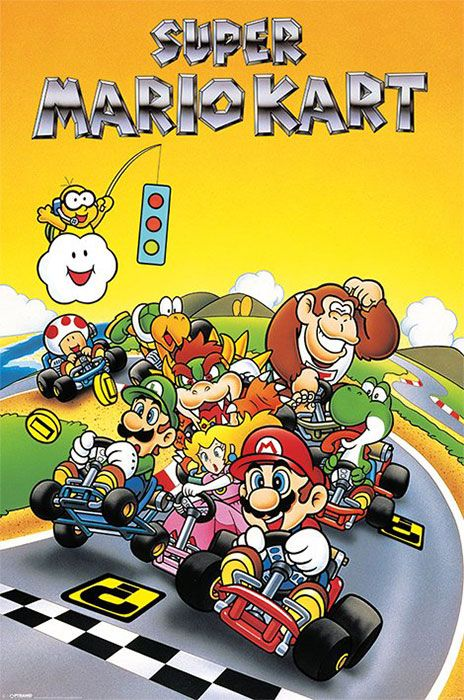 "Super Mario Kart - Retro - 24"" x 36"" $9.99                                                                                                                                                                                 More:"