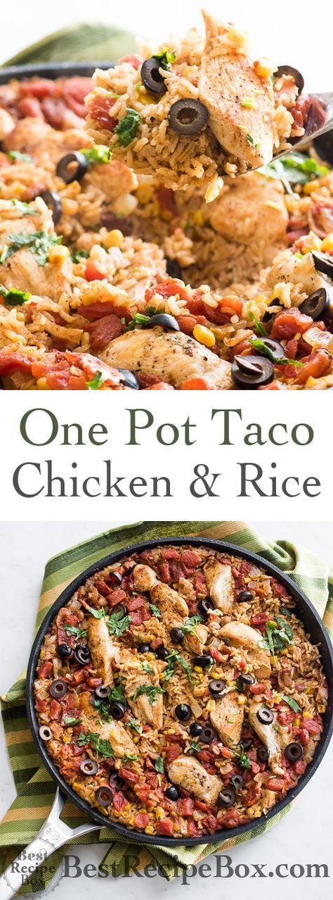 One-pot taco chicken and rice (arroz con pollo)