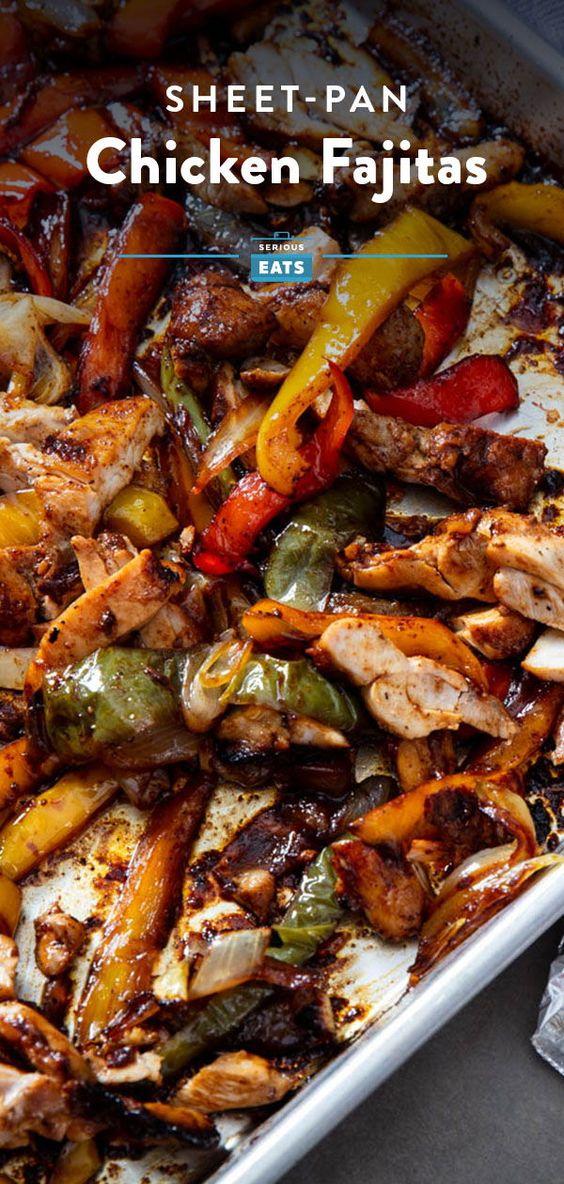Sheet-Pan Chicken Fajitas Recipe