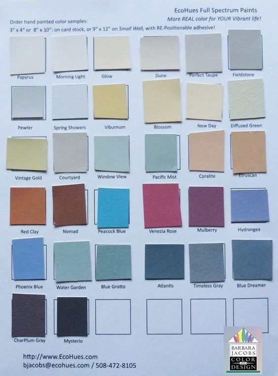 New 32 painted color swatches on one card ecohues full for Paint color spectrum
