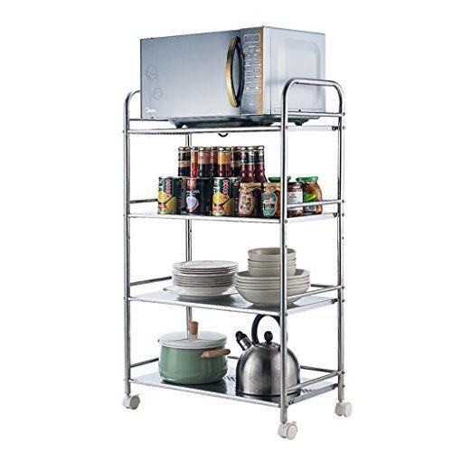 Kitchen Shelf Stainless Steel Kitchen Car Shelf Utility Kitchen Trolley Kitchen Cart With Wheels K Kitchen Storage Rack Kitchen Shelves Stainless Steel Kitchen