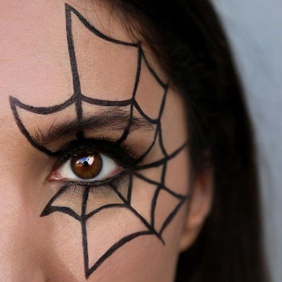 Intimidated by the crazy detailed #Halloween makeup out there? Here's a low-key look for you, using only our Limitless Liquid Liner in Black. 🕷🕸